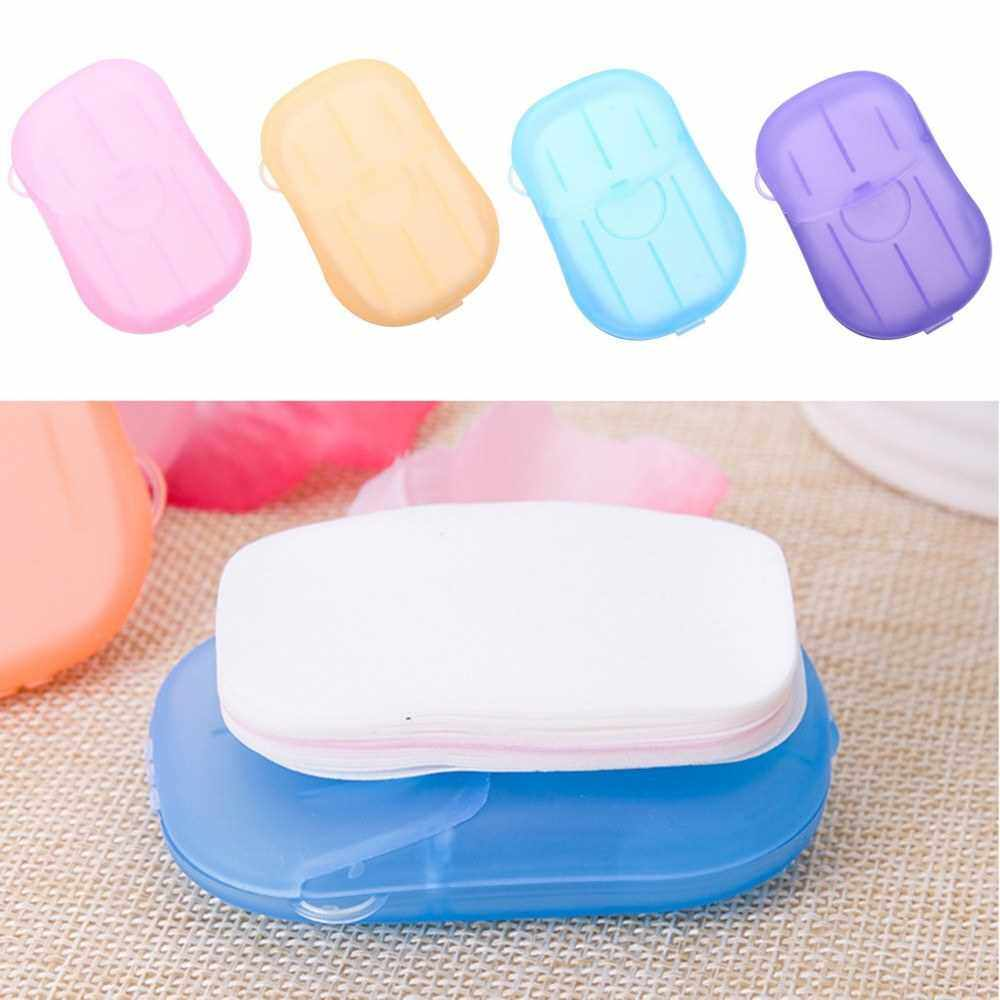 Travel Disposable Soap Tablets Soap Tissue Portable Hand Washing Mini Soap Tissue (Pink)