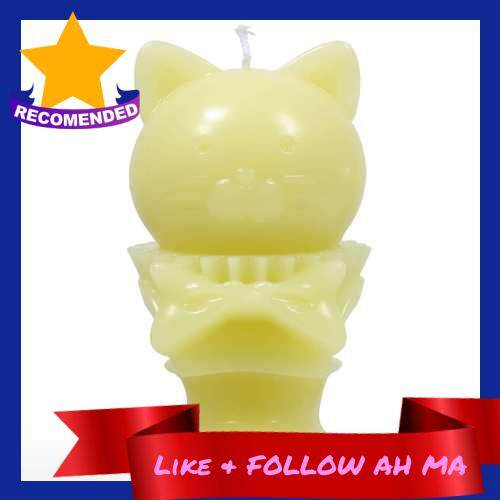Best Selling Tomfeel Aroma Candle - Yellow Kitten Decorative Aromatherapy Wax Natural Cotton Wick (yellow)