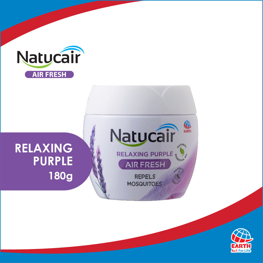 Natucair Air Fresh Mosquito Repellent Gel Relaxing Purple (180g)8850273183410