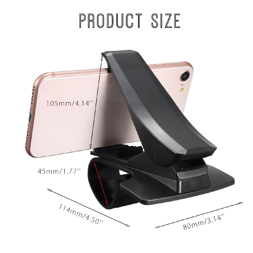 Phone Holder & Stand - For Mobile Cell Phone Universal Stand Holder 360 HUD Car Dashboard Mount - Cases Covers