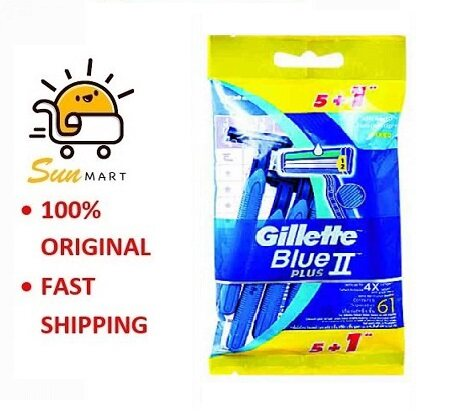 GILLETTE BLUE II PLUS (5'S+1'S)