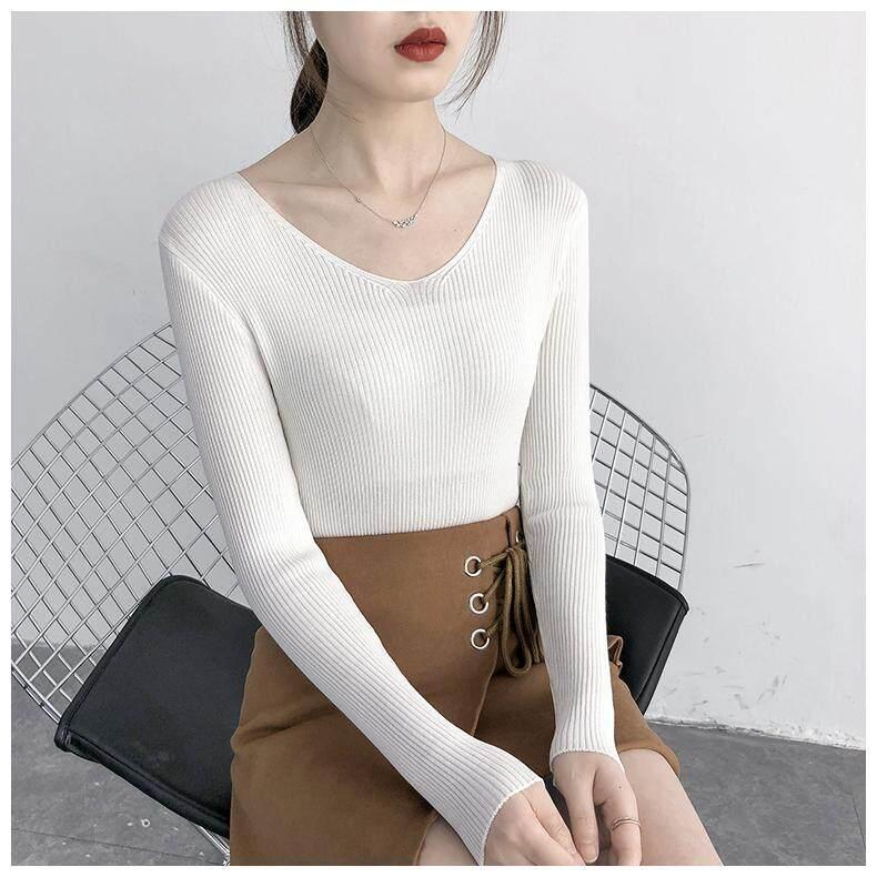 (Pre Order14 Days JYS Fashion Korean Style Women Knit TopCollection526-2543col525a-2543--White -S