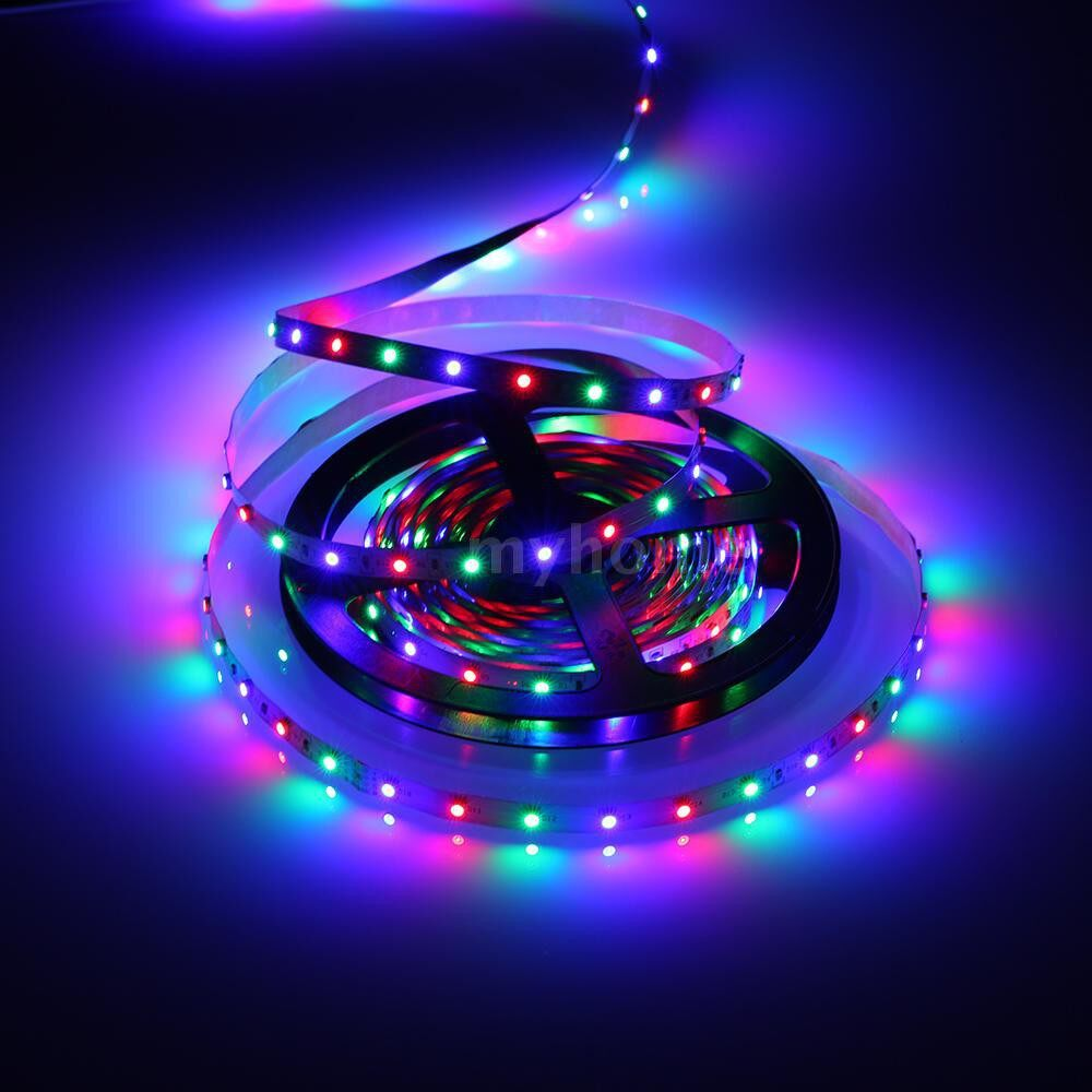 Lighting - DC12V 48W 10 Meters 600 LED RGB Strip Light with Sensitive IR24 Keys Remote Control Controller - Home & Living