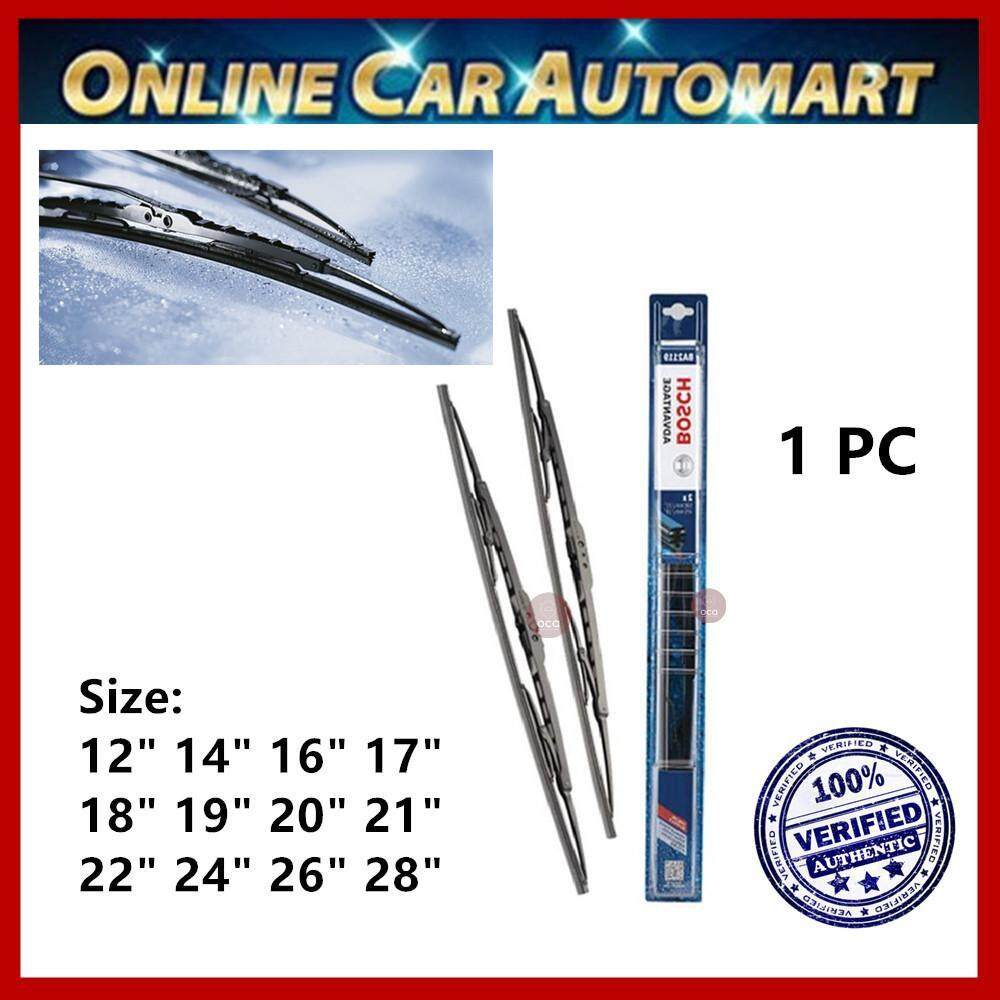 "Bosch Advantage Wiper - Compatible With All U-Hook Type (1 PC) Size: 12"", 14"", 16"", 17"", 18"", 19"", 20"", 21"", 22"", 24"", 26"", 28"""