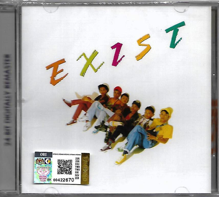 Exists - Exist Reissue CD 24 Bit Digitally Remastered Lagu Rock Melayu Original New And Sealed