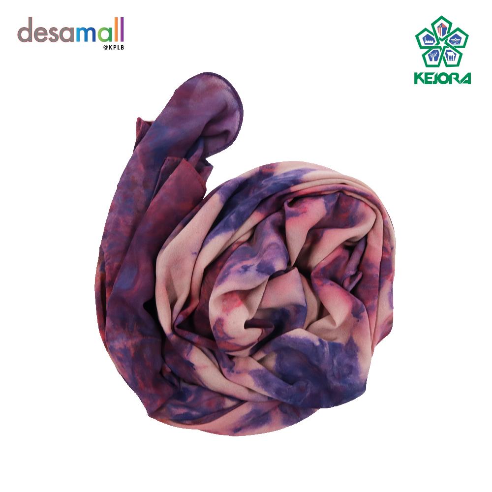 NORLI Shawl Batik Tie & Dye Base Color: Grey