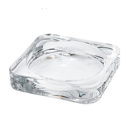 Fashion Home Deco Candle Dish/ Plate (Clear Glass) 9.5 x 9.5 cm