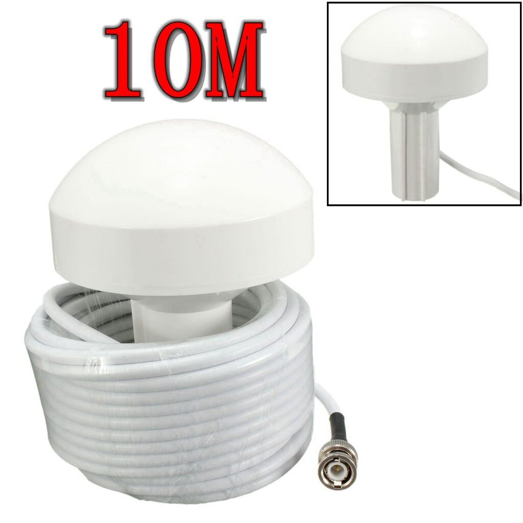 Engine Parts - GPS Marine Antenna for Garmin,Furuno BNC Connector TNC Adapter 10m White Cable - Car Replacement