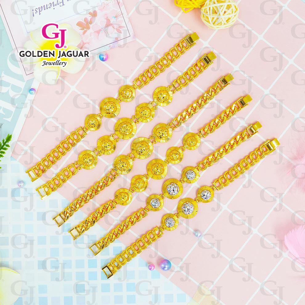GJ Jewellery Emas Korea - Topi Woman Bracelet Coco Papan (Gold Silver)