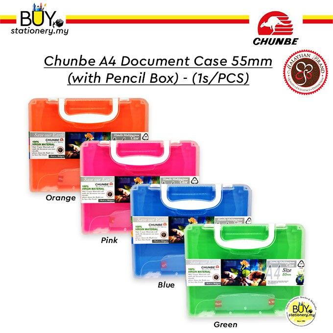 Chunbe A4 Document Case 55mm (with pencil box) - (1s/PCS)