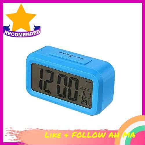 Best Selling Children Bedside Clock Smart Nightlight Table Electronic Clock Large Screen Digital Clock (Blue)