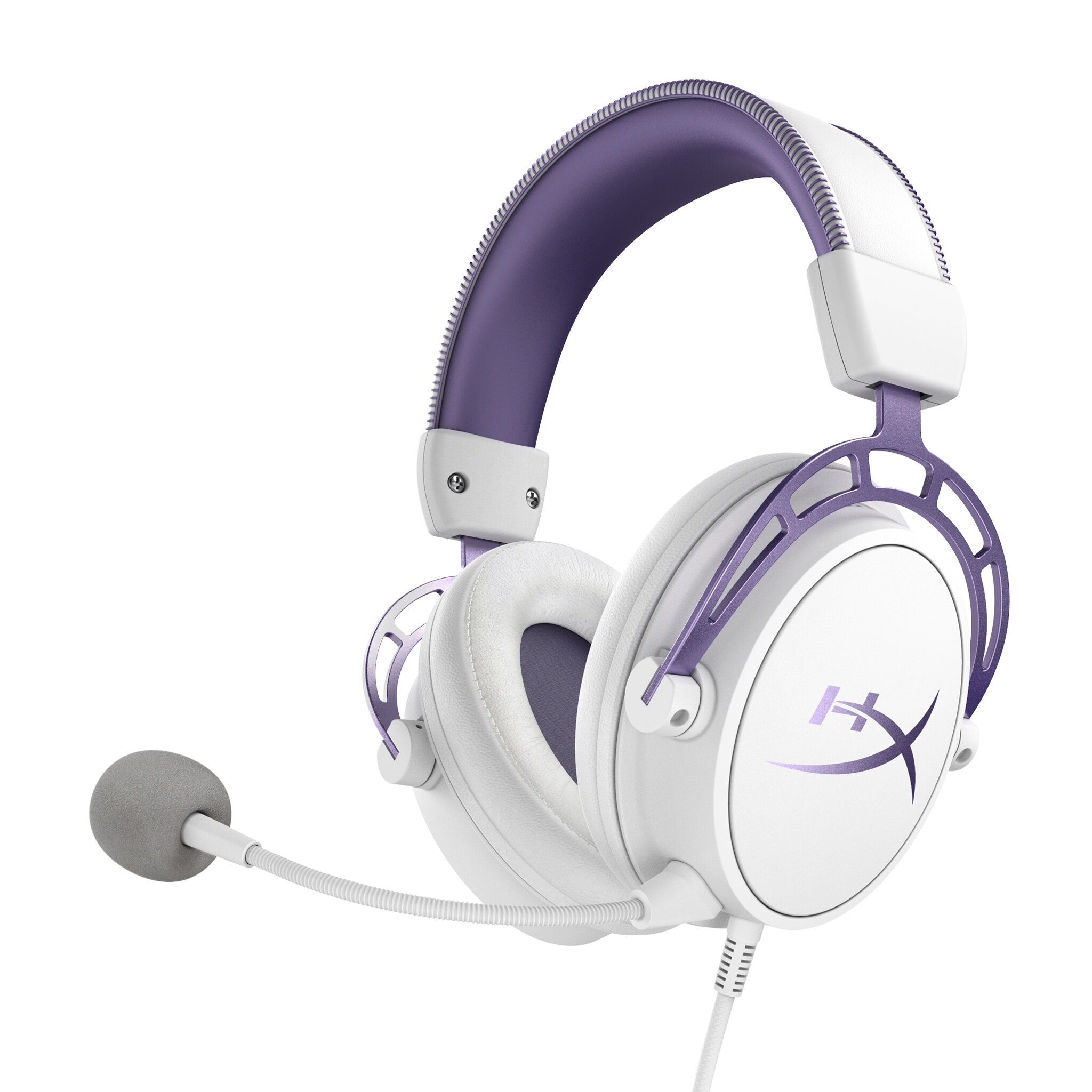 Hyper-X Wired Gaming Headset Cloud Alpha with 3.5mm Audio Jack, Datachable Noise-Cancelling Microphone, 50MM Driver, In-Line Audio Control, Aluminum Hinge