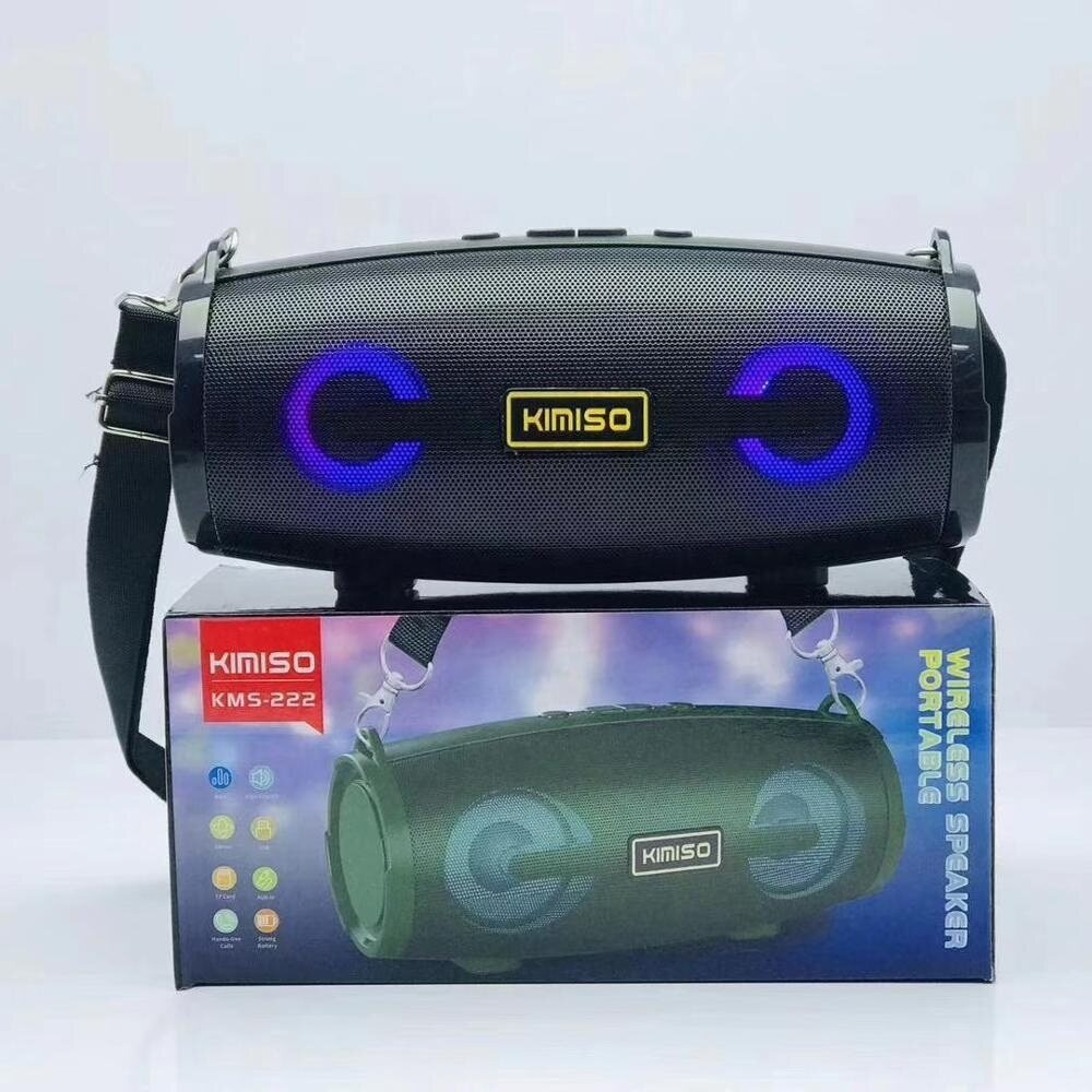 KIMISO KMS222 Support USB TF CARD FM RADIO Portable Blue Tooth Wireless Speaker