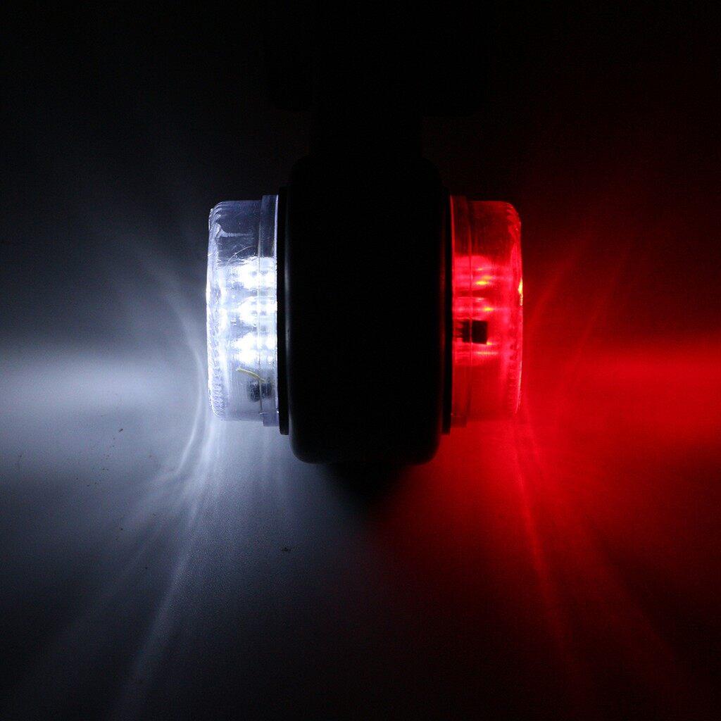 Car Lights - 2x 12V 24V Truck Trailer Caravan Lorry Van LED Side Marker Light Lamp Red White - Replacement Parts