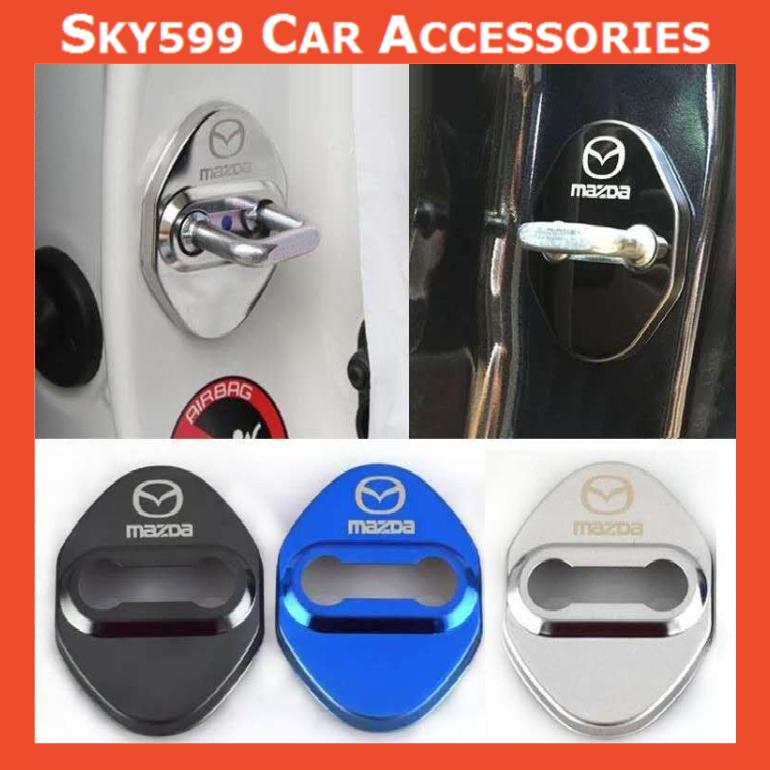Mazda Car Stainless Steel Door Lock Cover Case [4pcs]