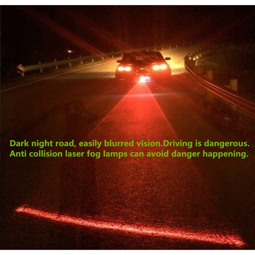 Car Lights - Auto Car Laser Fog Warning Lamp Red Lights Driving Safety Anti Collision Light - Replacement Parts
