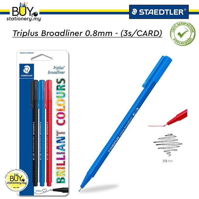 Staedtler Triplus Broadliner 0.8mm - (3s/CARD)
