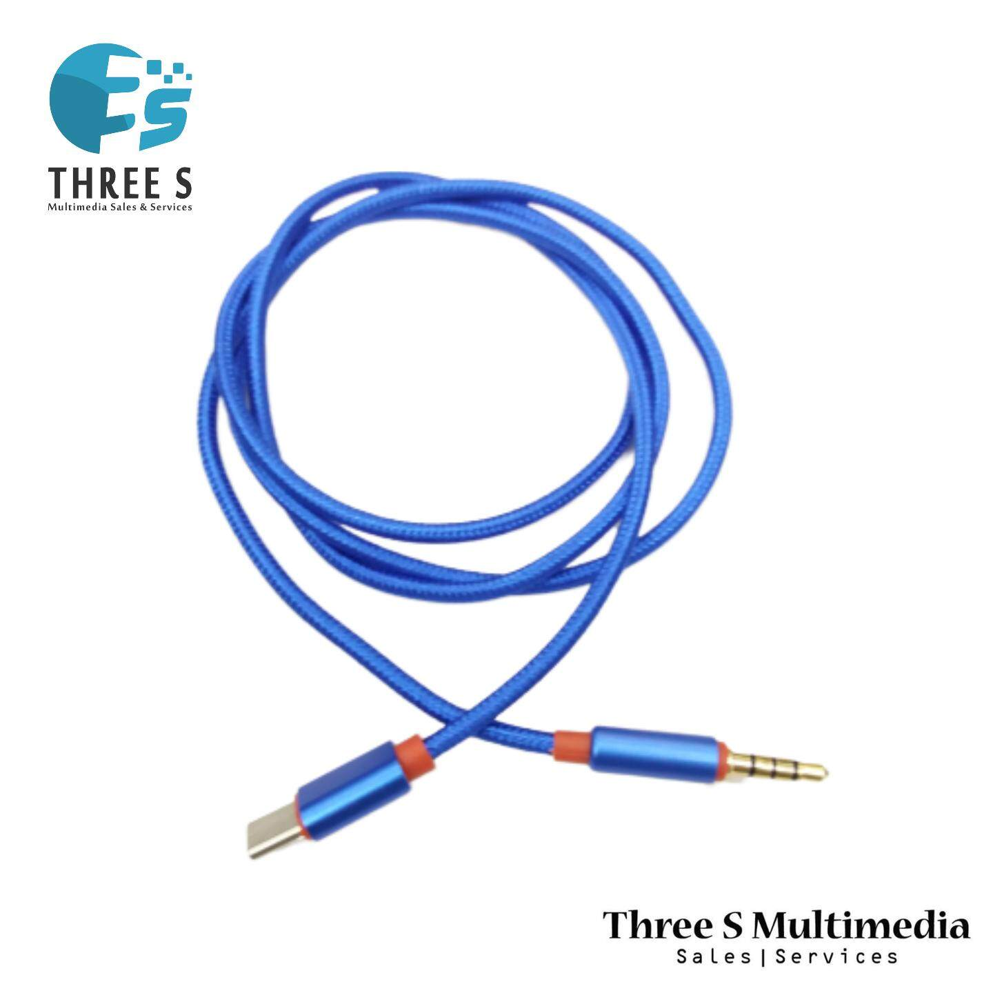 USB Type C Male To 3.5mm Male Audio AUX Adapter Cable