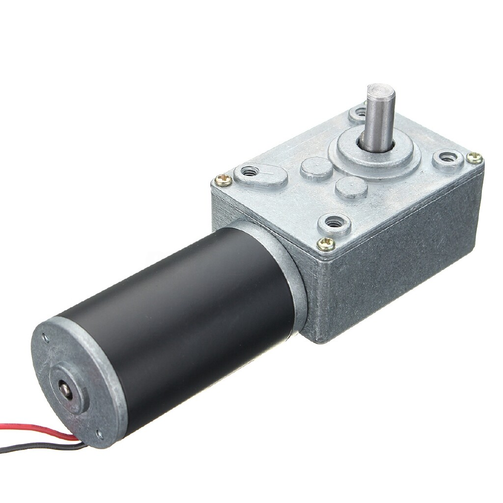 Moto Accessories - DC 12V Motor High Torque Electric Power Turbo Reducer Worm Geared Reversible - 25RPM / 15RPM / 10RPM / 5RPM / 3RPM