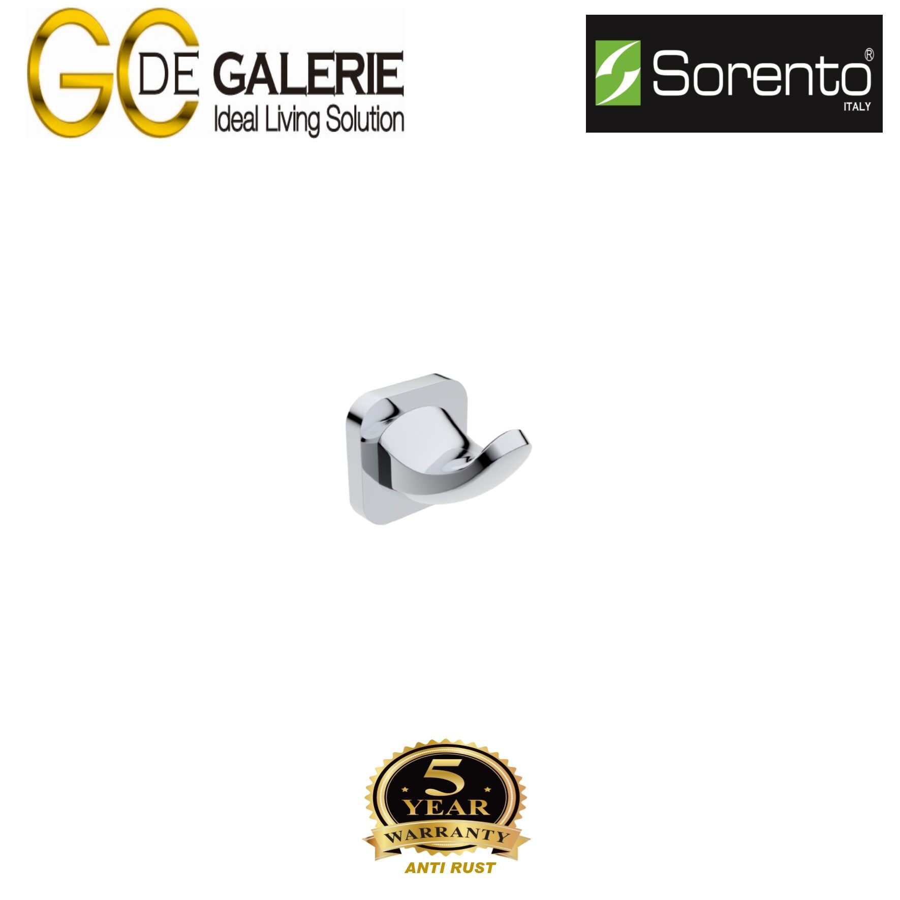 Sorento SRT3906 Bathroom/ Toilet Stainless Steel 304 Robe Hook