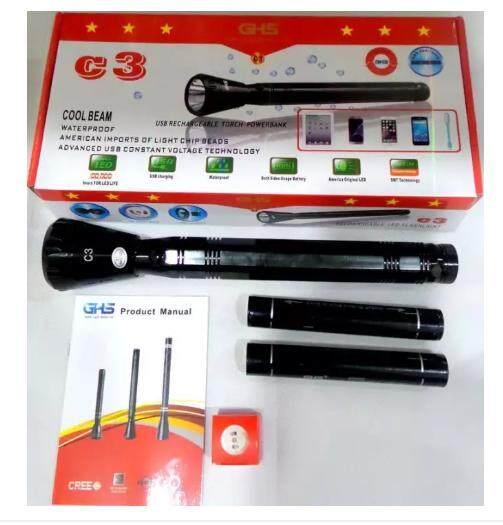Flashlight C3 Outdoor LED Aluminum-Cadmium Flashlight POWERBANK
