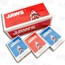 JAWS PLAYING CARDS BLUE & RED