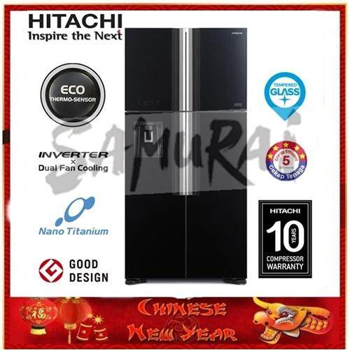 HITACHI 4 GLASS DOOR DUAL FAN INVERTER FRIDGE 586L RW720P7MGBK