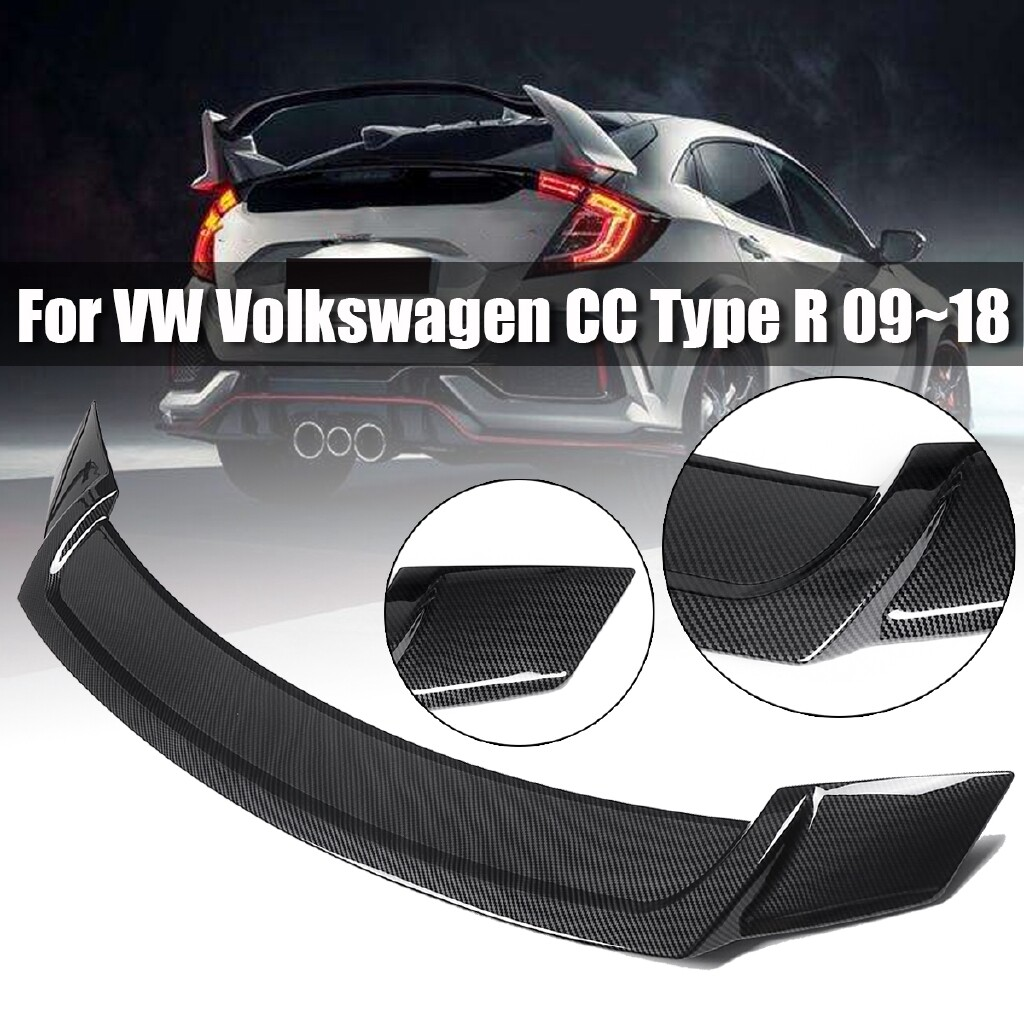 Car Accessories - Gloss Black Rear Wing Trunk Spoiler Lip For 2009- VW Volkswagen CC Type R - Automotive