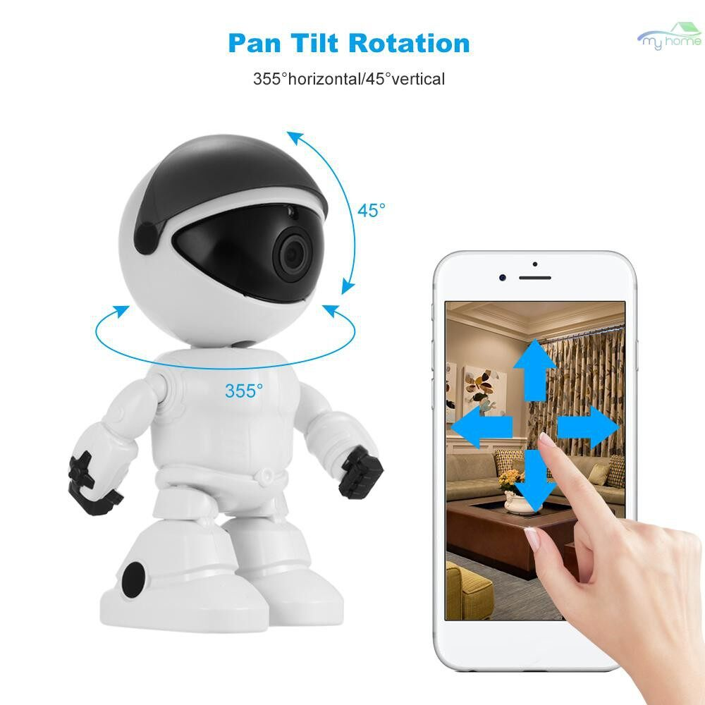 CCTV Security Cameras - HD 1080P WiFi Robot Security IP Camera Pan Tilt WiFi Camera Support P2P Night vision Motion - Systems