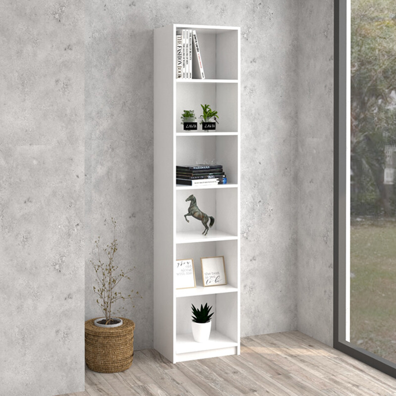 H2883 BILLY narrow 6 tier bookcase H 2883 WHITE