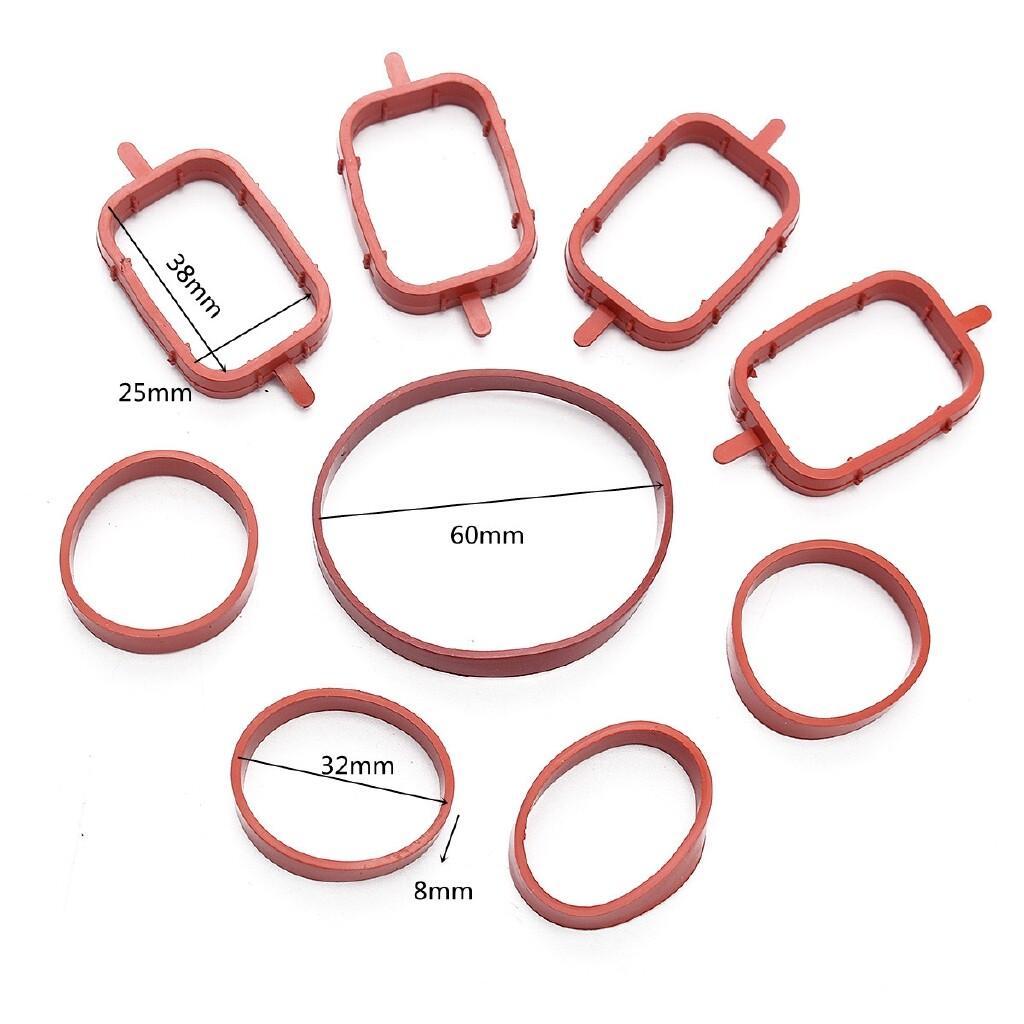 Automotive Tools & Equipment - 4 PIECE(s) ManIfold Gasket Intake Inlet For BMW Rover M47 E87 E46 E90 E91 E92 E93 - Car Replacement Parts