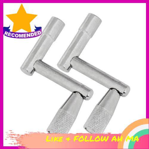Best Selling Universal Drum Tuning Key Tuner Metal Drum Maintenance Accessories Kit Wrench Pack of 2PCS (Silver)