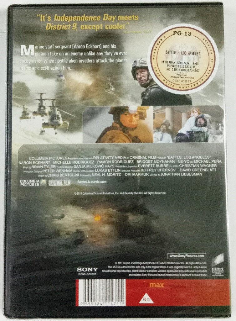 English Movie World Invasion : Battle Los Angeles VCD 2011 Film