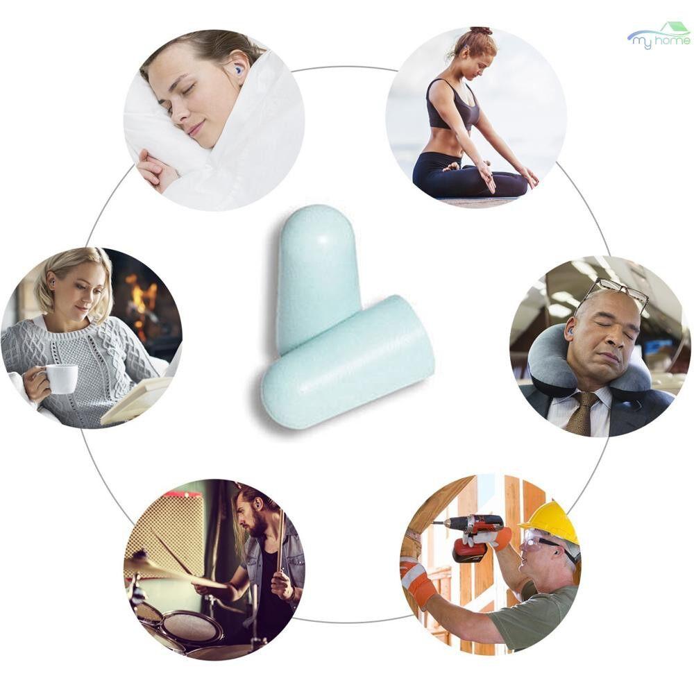 Ear Care - MACK'S 3 Pair Anti-noise Foam Earplugs Washable Professional Soundproof Ear Plugs for Sleeping - CHAMPAGNE / BLUE / PURPLE / ROSE RED