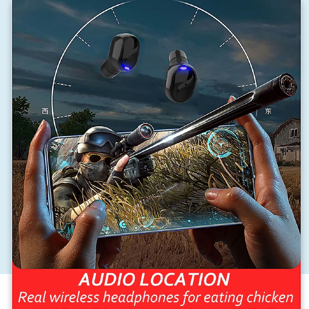 On-Ear Headphones - M18 Headphone MINI True BLUETOOTH 5.0 Stereo Earphones In-Ear Head SET - BLACK