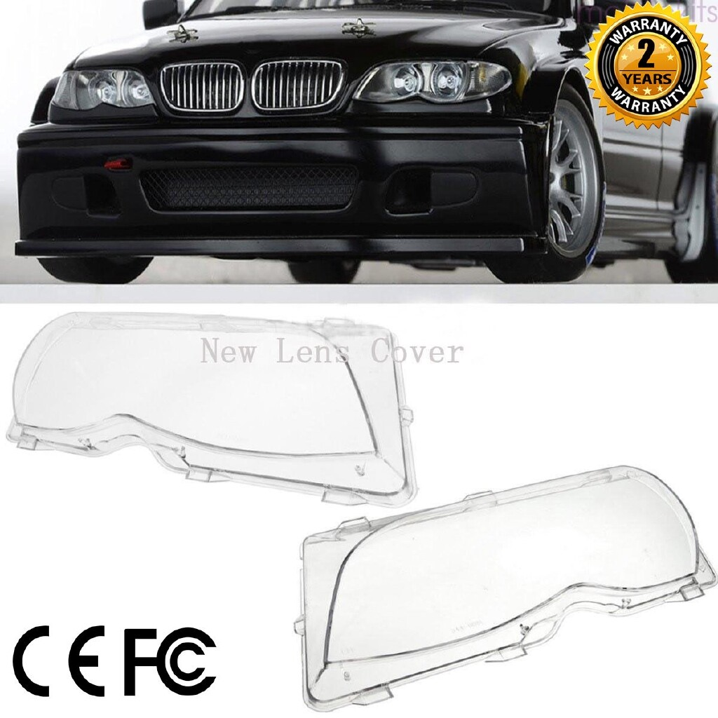 Car Lights - 2 PIECE(s) Car Lights Headlight Lens Shell Lamp Cover Glass Fit for BMW 2002-2005 - Replacement Parts