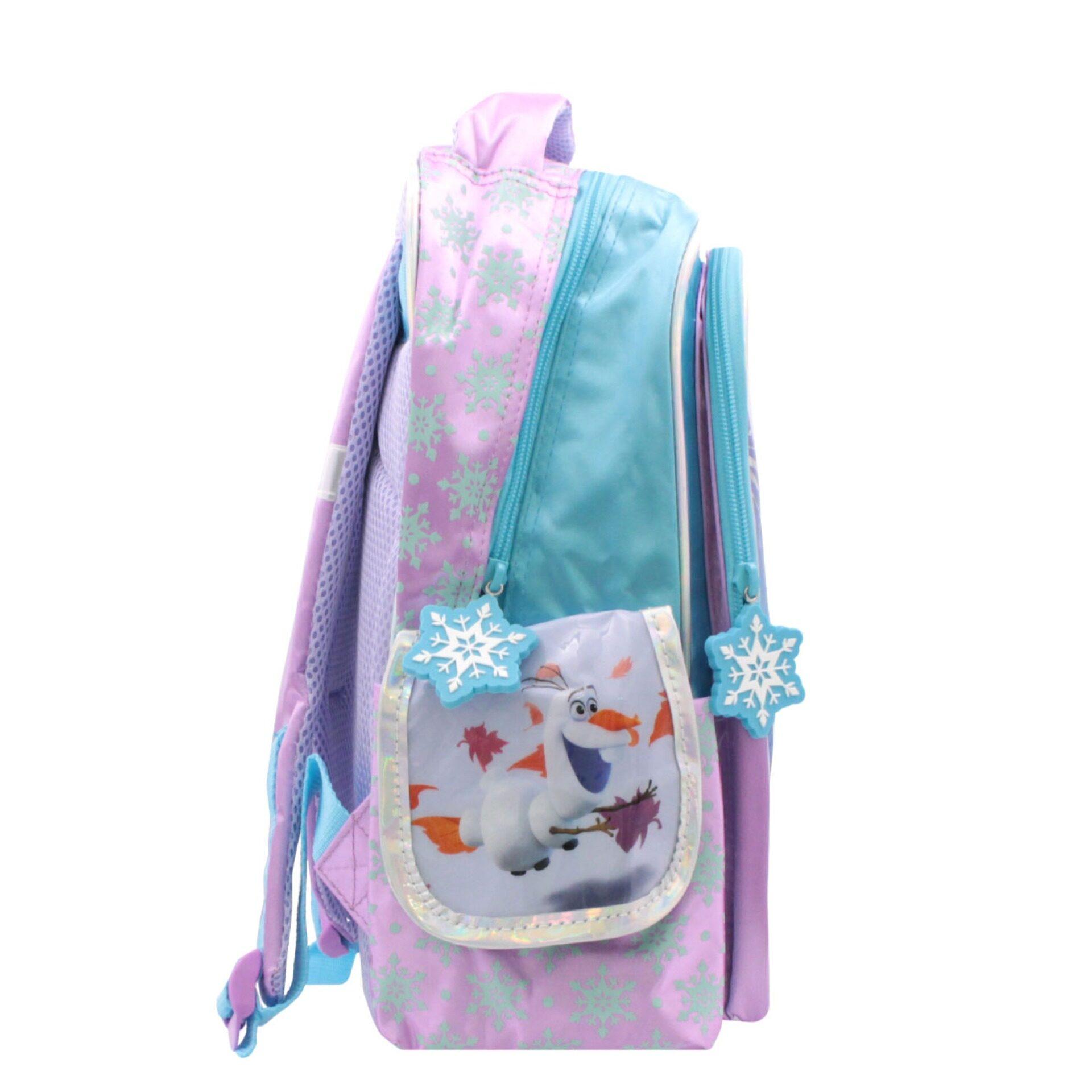 Disney Frozen 2 Princess Elsa Anna & Olaf Pre School Bag (Light Purple & Blue) (Age 4 & Above)