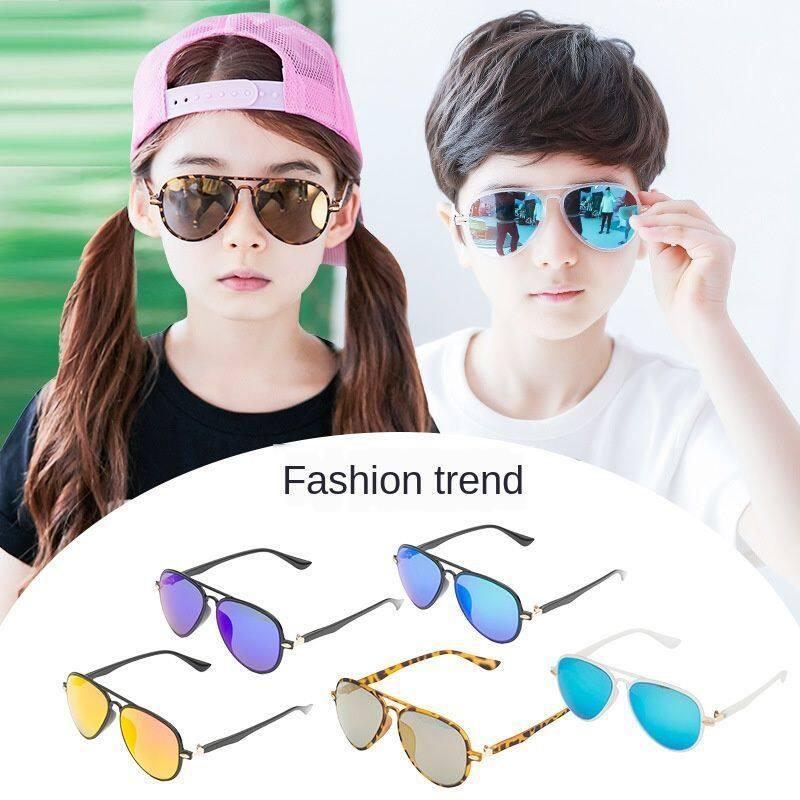 Giá bán Kính râm cho trẻ em chế độ các cậu bé và các cô bé đeo kính trẻ em chống tia cực tím thời trang Hàn Quốc vr4yjhgjh