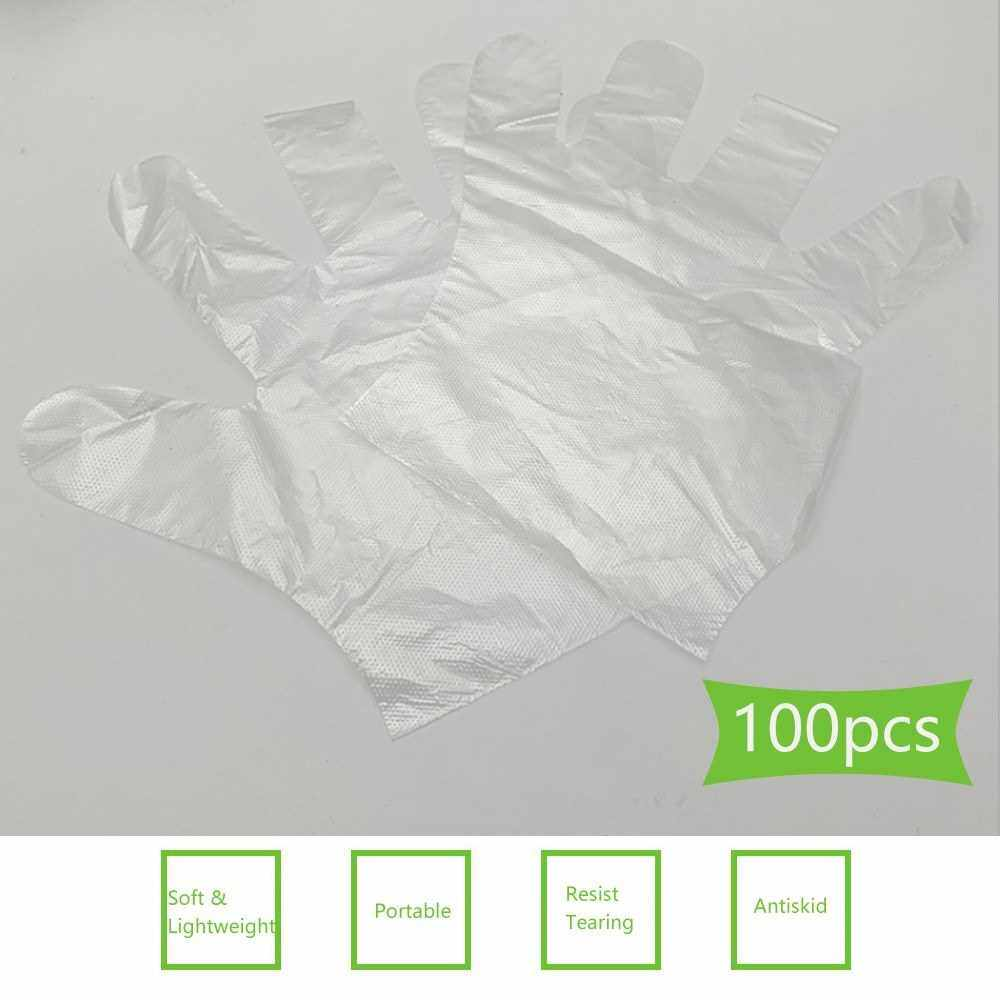 Best Selling 100Pcs Disposable Gloves Transparent Clear Thicken Soft Flexible Comfortable Protective Gloves for Kitchen Cooking Cleaning Restaurant Home Service (Standard)