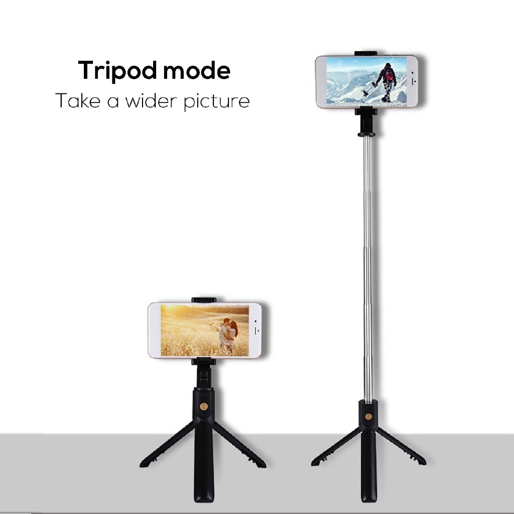Phone Holder & Stand - BLUETOOTH WIRELESS Extendable Selfie Stick Tripod Remote Shutter For iOS Android - WHITE / BLACK
