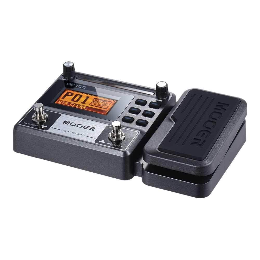 MOOER GE100 Guitar Multi-effects Processor Effect Pedal with Loop Recording(180 Seconds) Tuning Tap Tempo Rhythm Setting Scale & Chord Lesson Functions
