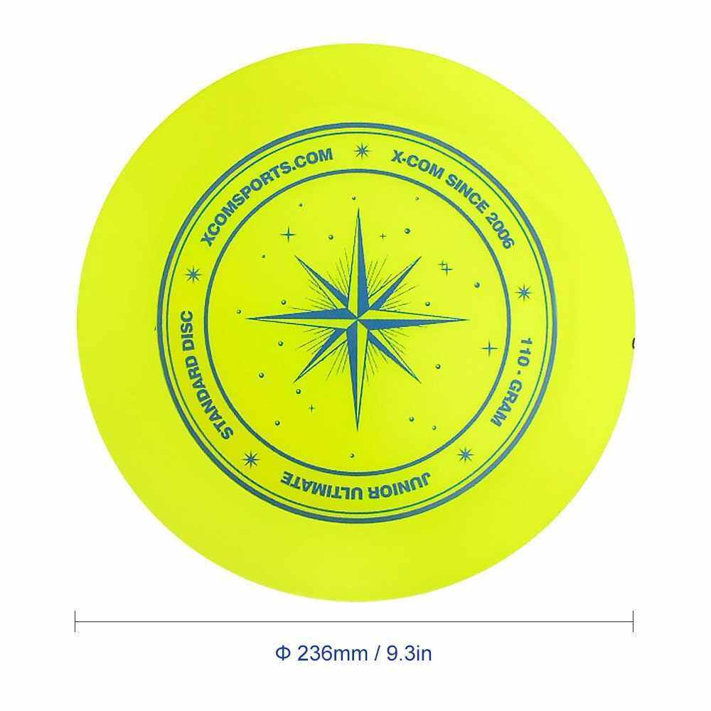 9.3 Inch 110g Plastic Flying Discs Outdoor Play Toy Sport Disc for Juniors (Yellow)