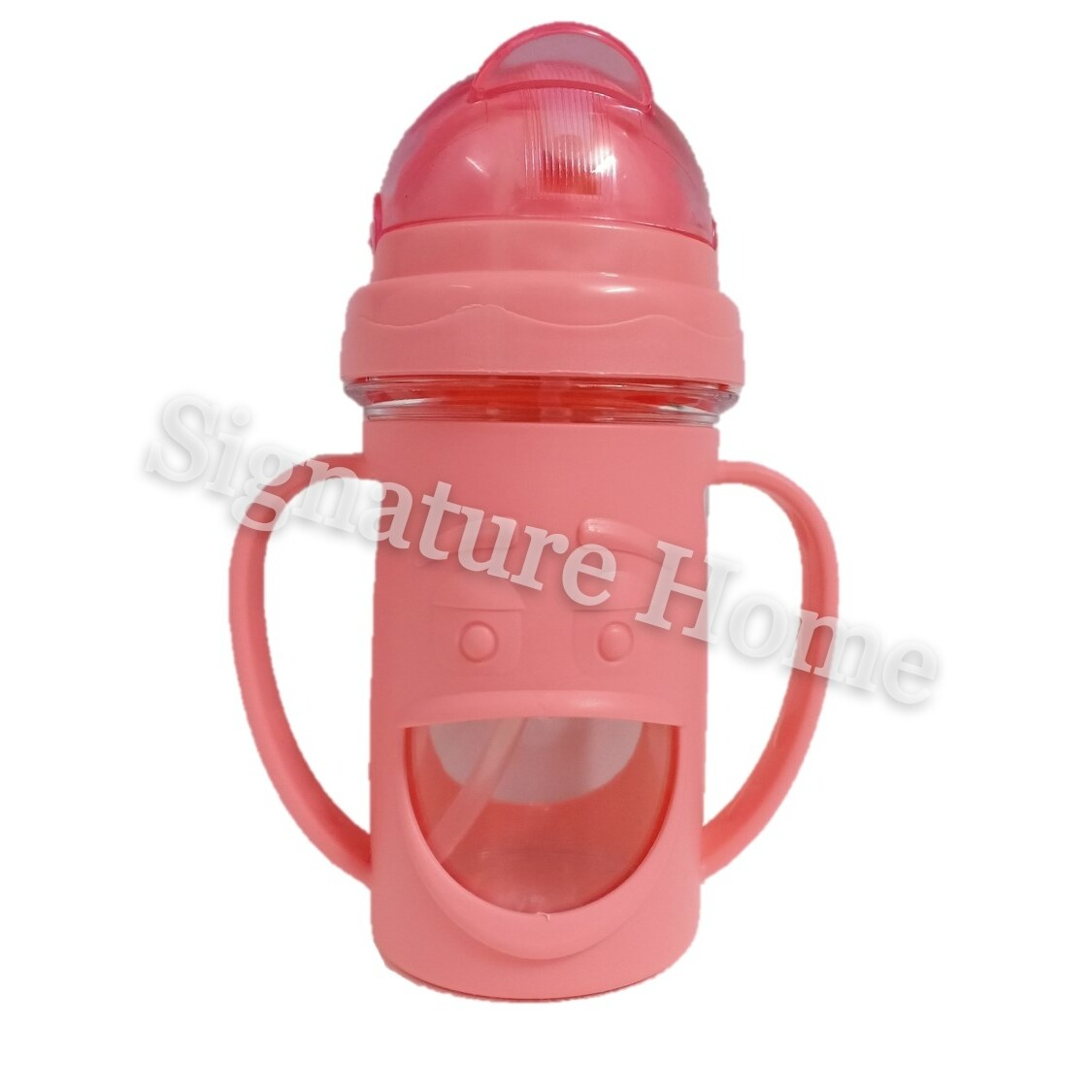 Signature Home 300ml Baby Kids Children Cute Cartoon School Drinking Water Straw Bottle Sippy Suction Cup