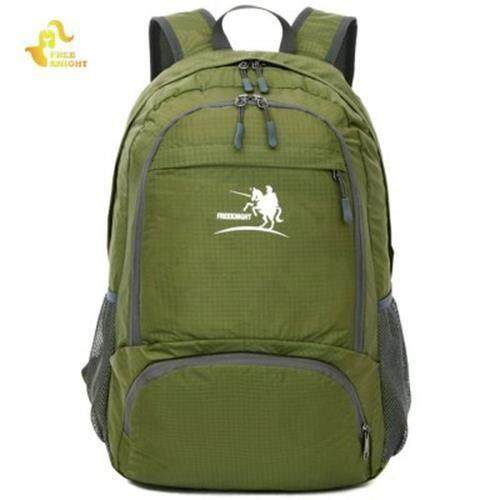 FREE KNIGHT FK0716 35L NYLON FOLDING ULTRA LIGHT WATER RESISTANT BACKPACK SCHOOL BAG FOR CAMPING HIKING (GREEN)