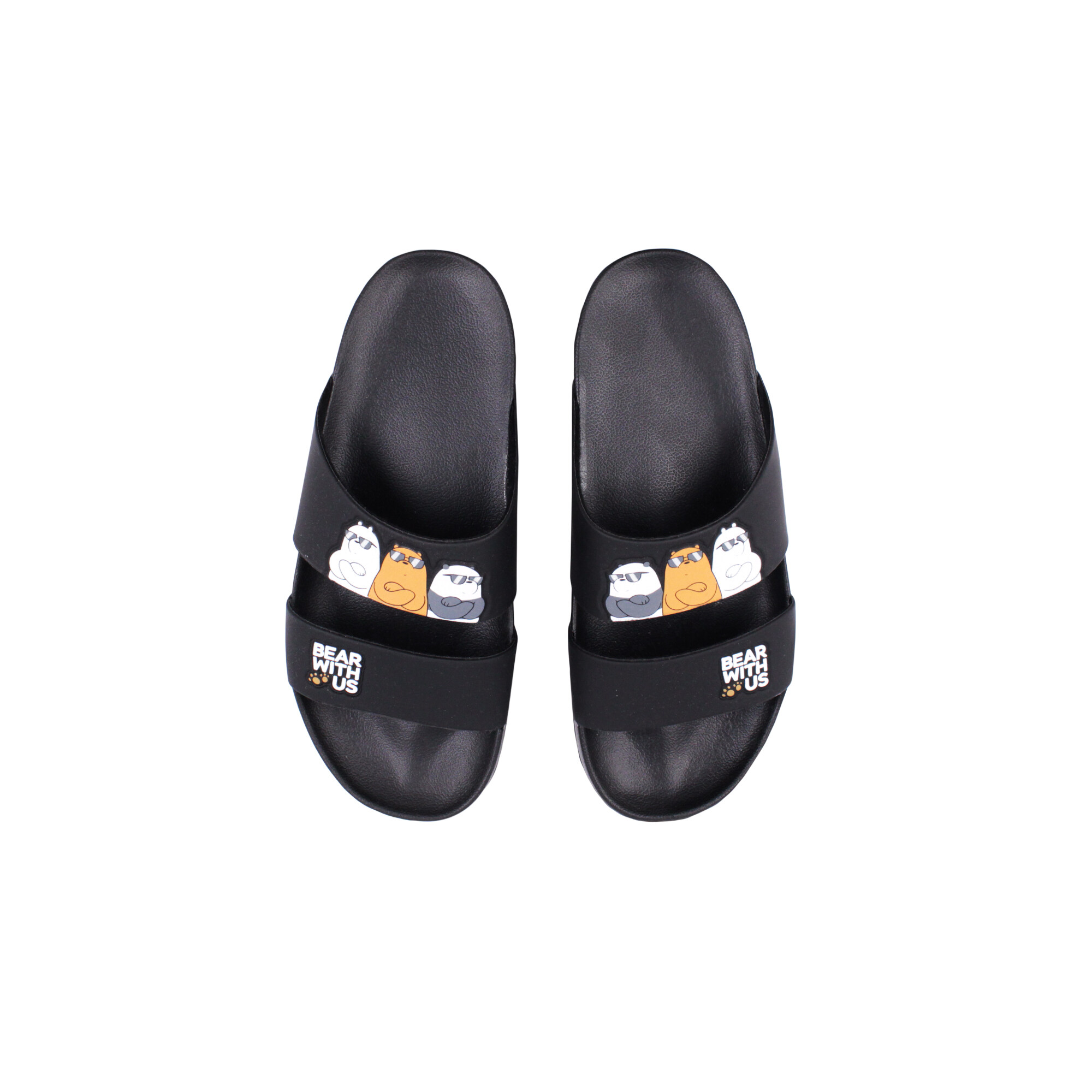We Bare Bears Adult Unisex Sandals-Black Colour