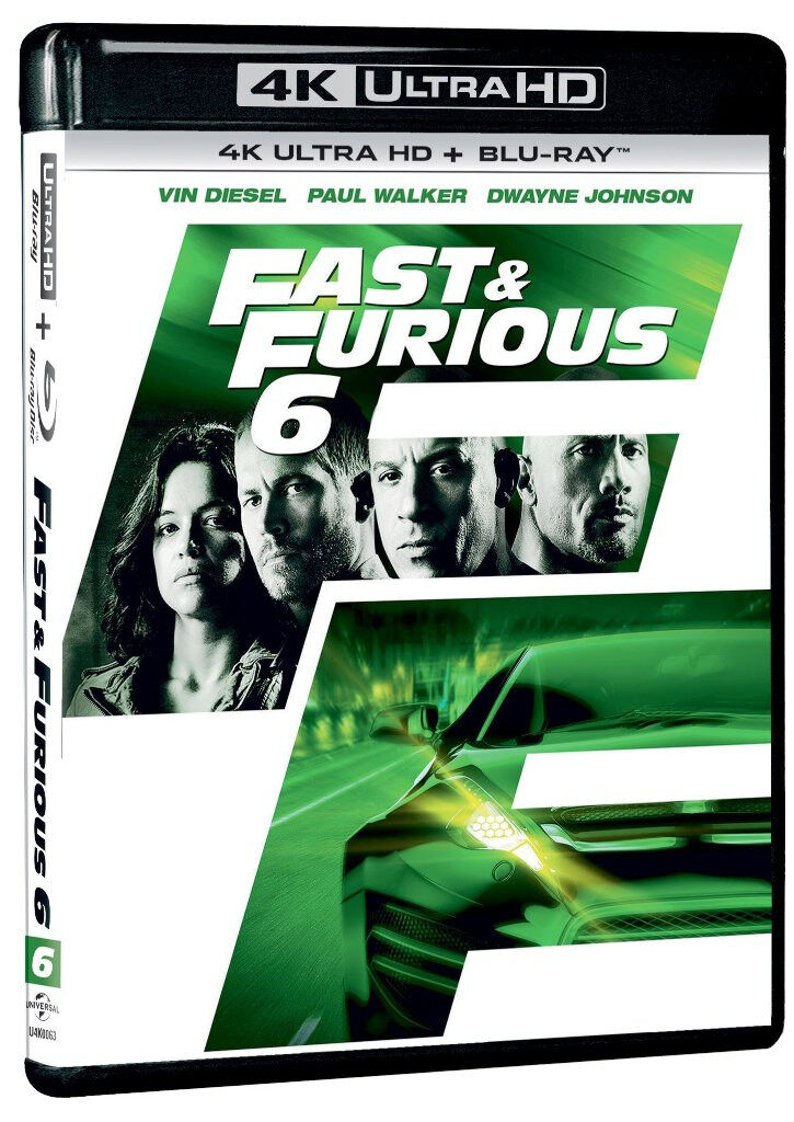 English Movie Fast And Furious 6 - 4K Ultra HD + Blu-ray