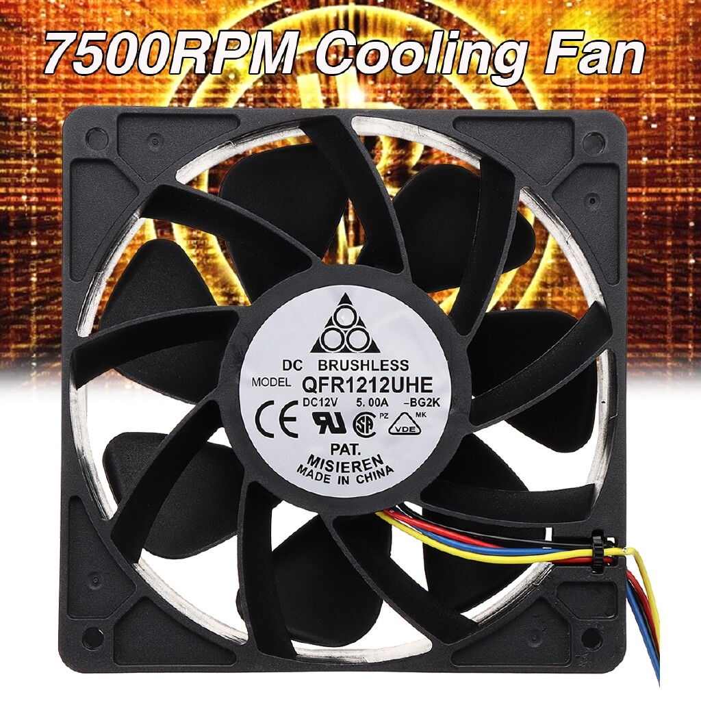 Fans & Heatsinks - 7500RPM Cooling Fan 4-pin Connector Replacement For Antminer Bitmain S7 S9 - Components