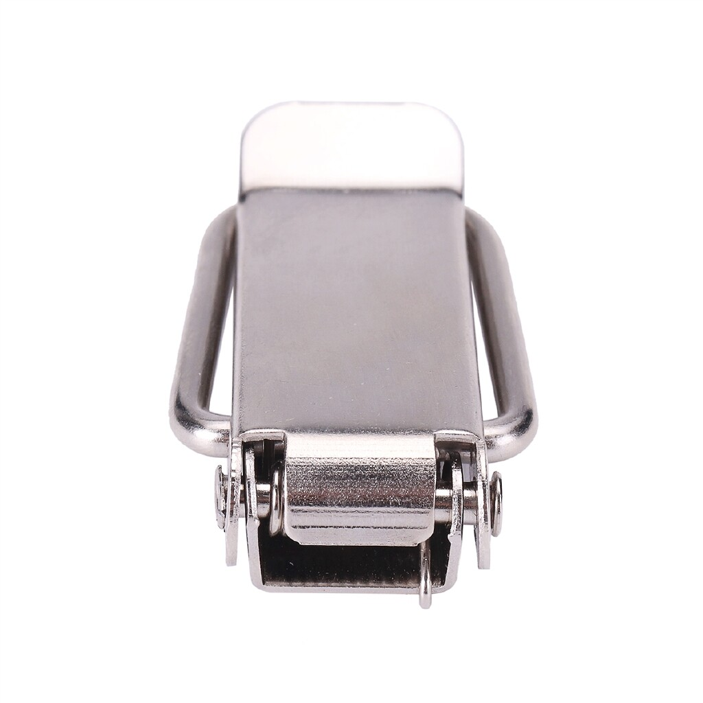 Automotive Tools & Equipment - 106mm Sliver Stainless Steel Bumper Quick Release Buckle Fastener - Car Replacement Parts