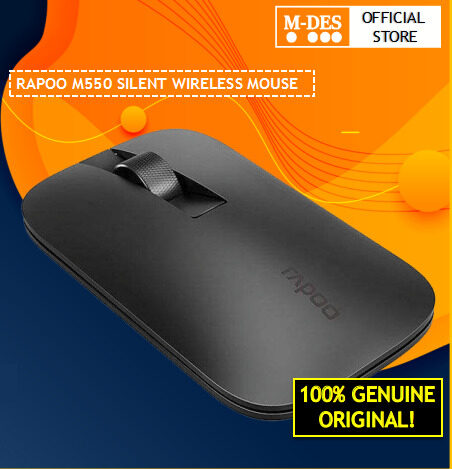 Rapoo M550 2.4G Wireless Multi Mode Mouse [Smart switch Bluetooth Mouse 3.0 4.0 and 2.4G / Connect up to 3 devices / Ultra Thin Design / Compact and Fashionable / Silent reduce slick noice]