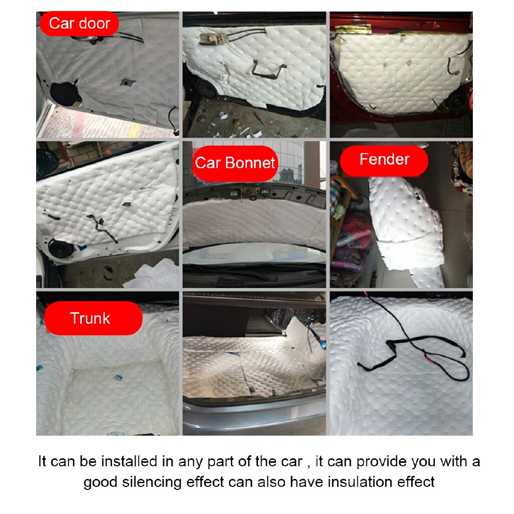 Automotive Tools & Equipment - 22mm 80x50cm Self Adhesive Closed Cell Foam Car SoundProof Insulation - Car Replacement Parts